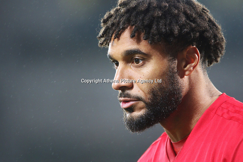 Ashley Williams of Wales prior to kick off of the International Friendly match between Wales and Panama at The Cardiff City Stadium, Wales, UK. Tuesday 14 November 2017