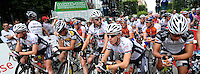 25. Sachsentour / Sachsen-Tour International - Radrundfahrt Etappenfahrt 2. Etappe - von Leipzig nach Eibenstock - Start in Leipzig -  im Bild:  Die Fahrer sammeln sich am Start.  Foto: Norman Rembarz..