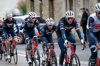 Former World Champion Mads Pedersen (DEN/Trek-Segafredo) paving the way for Richie Porte (AUS/Trek-Segafredo)<br /> <br /> 106th Liège-Bastogne-Liège 2020 (1.UWT)<br /> 1 day race from Liège to Liège (257km)<br /> <br /> ©kramon