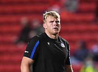 1st October 2021;  Ashton Gate Stadium, Bristol, South Gloucestershire, England; Gallagher Premier League rugby, Bristol Bears versus Bath Rugby: Josh McNally of Bath warms up