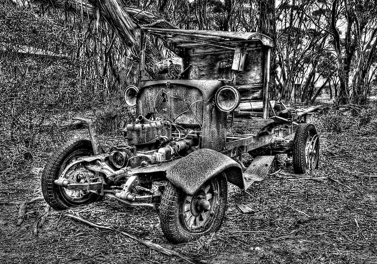 Day 26 lovely old ford has lasted for close to one hundred years and still standing at Penneshaw Kangaroo Island.