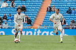 Real Madrid's Francisco Alarcon 'Isco' (L) and Lucas Vazquez (R) during La Liga match between Real Madrid and SD Eibar at Santiago Bernabeu Stadium in Madrid, Spain.April 06, 2019. (ALTERPHOTOS/A. Perez Meca)