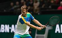 Rotterdam, The Netherlands, 11 Februari 2019, ABNAMRO World Tennis Tournament, Ahoy, first round match: Peter Gojowczyk (GET),<br /> Photo: www.tennisimages.com/Henk Koster