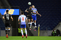 22nd April 2021; Dragao Stadium, Porto, Portugal; Portuguese Championship 2020/2021, FC Porto versus Vitoria de Guimaraes; Pepe of FC Porto and Oscar Estupinan of Vitoria de Guimaraes challenge for the header