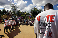 An MDC (Movement for Democratic Change) rally in rural Zimbabwe in the week before the 29 March 2008 General Elections...