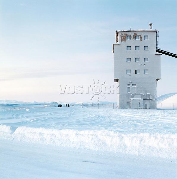 Schweden, Lappland, Kiruna, Industrieanlage am Berg Luossavaarabaken, Schnee, Winter, Europa, Nordeuropa, Skandianvien, MF; (Bildtechnik: sRGB, 52.94 MByte vorhanden)