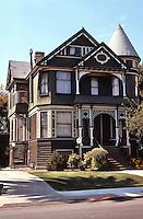 Alameda CA:  Eastlake-Queen Anne, Union St., 1890.  Photo '78.