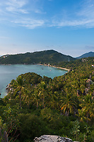 Ko Tao island view from the high rocky hill, Thailand