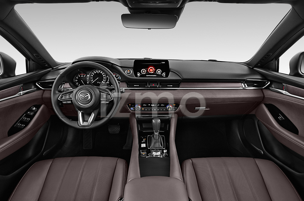 Stock photo of straight dashboard view of a 2018 Mazda Mazda6 Skycruise 4 Door Sedan