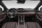 Stock photo of straight dashboard view of a 2018 Mazda Mazda6 Skycruise 4 Door Sedan