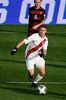 Chester, PA - Sunday December 10, 2017: Rece Buckmaster. Stanford University defeated Indiana University 1-0 in double overtime during the NCAA 2017 Men's College Cup championship match at Talen Energy Stadium.