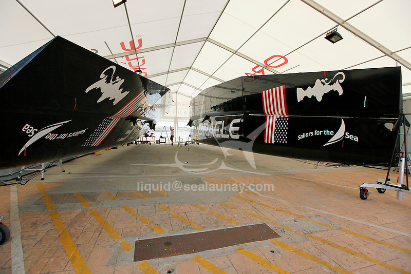 America's Cup World Series in Cascais Portugal..Oracle Base.