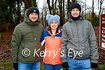 Bart Lengwerski, Vicki O'Regan and Aidan McElligott enjoying a stroll in the town park in Killarney on Saturday.