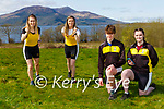 Shona and Aine O'Sullivan ready for their Muckross Rowing club virtual Easter Marathon challenge while Daniel and Hannah Daly time their efforts in Muckross on Tuesday