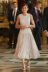 Queen Letizia of Spain attends to Sapnish National Day palace reception at the Royal Palace in Madrid, Spain. October 12, 2018. (ALTERPHOTOS/A. Perez Meca)