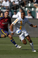 Kyle Veris races for the ball. The Los Angeles Galaxy defeated Real Salt Lake, 3-2, at the Home Depot Center in Carson, CA on Sunday, June 17, 2007.