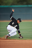 AZL White Sox second baseman Jose Rodriguez (5) fields a ground ball during an Arizona League game against the AZL Padres 2 on June 29, 2019 at Camelback Ranch in Glendale, Arizona. The AZL Padres 2 defeated the AZL White Sox 7-3. (Zachary Lucy/Four Seam Images)