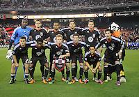 DC United starting elven.  DC United tied Los Angeles Galaxy 1-1, at RFK Stadium, Saturday April 9, 2011.