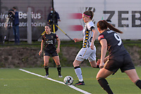 Estelle Dessilly (13) of Charleroi starting the female soccer game between Sporting Charleroi and Oud Heverlee Leuven on the 17 th matchday of the 2020 - 2021 season of Belgian Scooore Womens Super League , tuesday 30 th of March 2021  in Marcinelle , Belgium . PHOTO SPORTPIX.BE | SPP | STIJN AUDOOREN