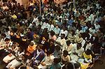 Black British woman evangelical congregation UK Elim Pentecostal Church service at Kensington Temple London England  1990s UK