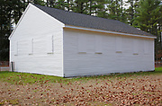 Old Allenstown Meeting House in Bear Brook State Park in Allenstown, New Hampshire USA. Built in 1815, this is a one story meeting house.