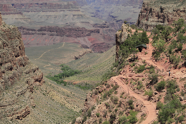 Three mile rest area on the Bright Angel Trail, Grand Canyon National Park, Arizona. . John offers private photo tours in Grand Canyon National Park and throughout Arizona, Utah and Colorado. Year-round.