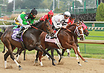 October 01, 2014: Take Charge Brandi leading the way past early in the Pocohantas at Churchill Downs.  Candice Chavez/ESW/CSM