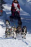 Sunday, March 4, 2012  Sigrid Ekran at the restart of Iditarod 2012 in Willow, Alaska.