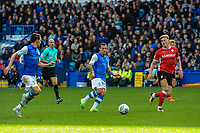 Sheffield Wednesday's midfielder Ross Wallace (33) spreads ide to Sheffield Wednesday's midfielder Kieran Lee (5) during the Sky Bet Championship match between Sheff Wednesday and Barnsley at Hillsborough, Sheffield, England on 28 October 2017. Photo by Stephen Buckley / PRiME Media Images.