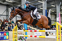 NZL-Briar Burnett-Grant rides Fiber Fresh Chesall. Final-2nd. Class 30: Sky Sport Next 1.30m-1.35m 10K - FINAL. 2021 NZL-Easter Jumping Festival presented by McIntosh Global Equestrian and Equestrian Entries. NEC Taupo. Sunday 4 April. Copyright Photo: Libby Law Photography