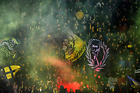 Frosinone supporters cheer on during the Serie A 2018/2019 football match between Frosinone and FC Internazionale at stadio Benito Stirpe, Frosinone, April 14, 2019 <br /> Photo Andrea Staccioli / Insidefoto