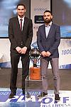Thomas Satoransky and  Marco Popovic during presentation of the Liga Endesa playoff. May 23,2016. (ALTERPHOTOS/Rodrigo Jimenez)