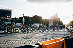 The peloton incliding Yellow Jersey Egan Bernal (COL) and Team Ineos enter Place de la Concorde during Stage 21 of the 2019 Tour de France running 128km from Rambouillet to Paris Champs-Elysees, France. 28th July 2019.<br /> Picture: ASO/Thomas Maheux   Cyclefile<br /> All photos usage must carry mandatory copyright credit (© Cyclefile   ASO/Thomas Maheux)