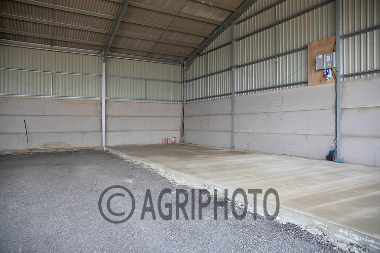 New Concrete in a farm shed <br /> ©Tim Scrivener Photographer 07850 303986<br />      ....Covering Agriculture In The UK....