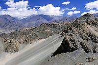 Mountainous landscape of the Himalayas, Leh, Ladakh, India.