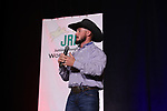 Braxten Nielsen during the bareback and saddle bronc back  number  presentation at the Junior World Finals Rodeo. Photo by Andy Watson. Written permission must be  provided  to use  this  photo  in any manner.