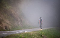 misty up the very steep section (+16%) of the Mur de Péguère (Cat1/1375m/9.3km/7.9%)<br /> <br /> Stage 15: Limoux to Foix (185km)<br /> 106th Tour de France 2019 (2.UWT)<br /> <br /> ©kramon