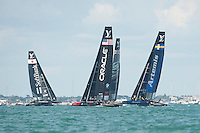 25 July 2015: Action from the America's Cup first round racing off Portsmouth, England (Photo by Rob Munro)
