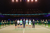 Rotterdam, The Netherlands, 17 Februari 2019, ABNAMRO World Tennis Tournament, Ahoy, Final, Doubles, <br /> Jeremy Chardy (FRA) / Henri Kontinen (FIN) winners vs Jean-Julien Rojer (NED) / Horia Tecau (ROU), <br /> Photo: www.tennisimages.com/Henk Koster