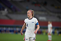 TOKYO, JAPAN - JULY 21: Becky Sauerbrunn #4 of the United States during a game between Sweden and USWNT at Tokyo Stadium on July 21, 2021 in Tokyo, Japan.