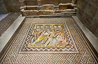 Roman mosaics - Achilles Mosaic.  Ancient Zeugama, 2nd - 3rd century AD . Zeugma Mosaic Museum, Gaziantep, Turkey.