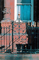 London: Hotel Russell--ironwork.