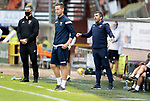 Dundee United v St Johnstone…..01.08.20   Tannadice  SPFL<br />Saints boss Callum Davidson and coach Steven MacLean on the touchline<br />Picture by Graeme Hart.<br />Copyright Perthshire Picture Agency<br />Tel: 01738 623350  Mobile: 07990 594431
