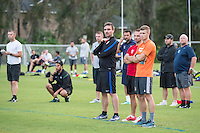 Orlando, FL - Friday Oct. 14, 2016:   Lead instructor Vanni Sartini and candidates observe a training session during a US Soccer Coaching Clinic in Orlando, Florida.