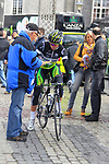 Michael Albasini (SUI) GreenEdge Cycling Team signs an autograph at sign on before the start of the 98th edition of Liege-Bastogne-Liege outside the Palais des Princes-Eveques, running 257.5km from Liege to Ans, Belgium. 22nd April 2012.  <br /> (Photo by Eoin Clarke/NEWSFILE).