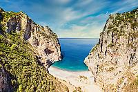 The beach Vithouri in Evia island, Greece