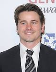 Jason Ritter attends the Humane Society of The United States 26th Annual Genesis Awards held at The Beverly Hilton in Beverly Hills, California on March 24,2012                                                                               © 2012 DVS / Hollywood Press Agency