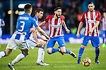 Yannick Ferreira Carrasco of Atletico de Madrid is tripped during their La Liga match between Atletico de Madrid and Deportivo Leganes at the Vicente Calderón Stadium on 04 February 2017 in Madrid, Spain. Photo by Diego Gonzalez Souto / Power Sport Images