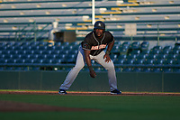 Jupiter Hammerheads Lazaro Alonso (44) leads off during a Florida State League game against the Bradenton Marauders on April 19, 2019 at LECOM Park in Bradenton, Florida.  Bradenton defeated Jupiter 7-1.  (Mike Janes/Four Seam Images)