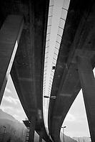 Switzerland. Canton Ticino. Lugano. Highway Bridge. 10.02.2020  © 2020 Didier Ruef